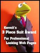 Kermit's 3 Piece Suit Award
